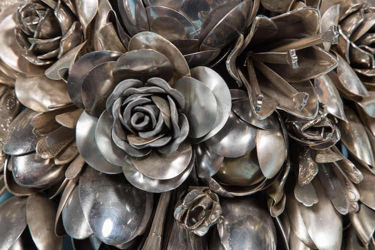 Artist Turns Old Silverware into Blooming Flower Bouquets - Grand ...